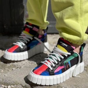Sneakers bassi Jammers London Iberia2 multicolore con fondo nero